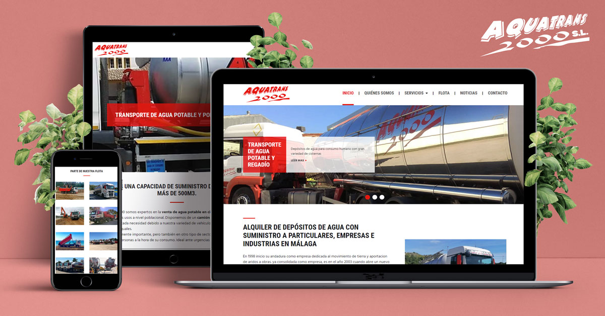 Estrenamos página web en Aquatrans 2000